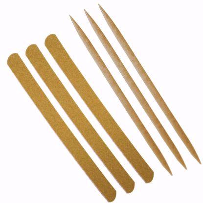 Imagem de Kit Unhas com 3 palitos + 3 lixas
