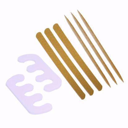 Imagem de Kit Unhas II com 3 Palitos + 3 Lixas + 2 Separadores