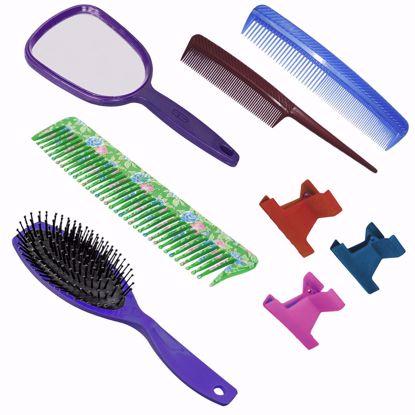 Imagem de Kit de  pentes e escova com 6 peças
